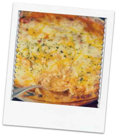 4 cheese venison lasagna dip