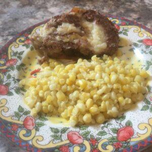 Cheesy-Potato Venison Roll
